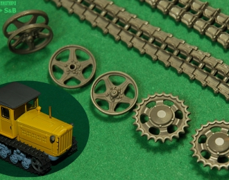 Набор траков и колёс для моделей ранних ДТ 54