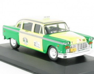 CHECKER Marathon Taxicab (Chicago, 1980), серия Collection Les Taxis du monde 9, зеленый с желтым