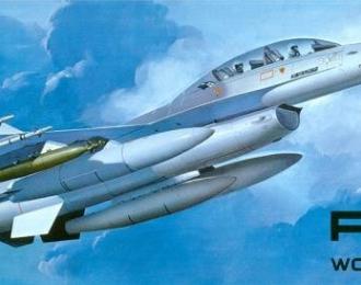 Сборная модель F-16B Plus Wolf Pack