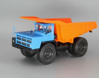 БелАЗ-7523 карьерный самосвал, синий / оранжевый