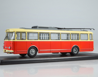 (Уценка!) Троллейбус Skoda-9TR, красно-бежевый