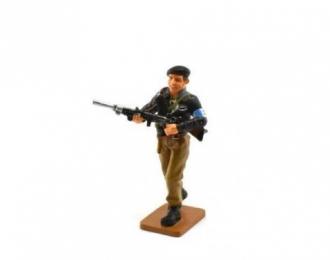 Партизан  французского Сопротивления с пулеметом 1944