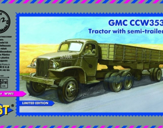 Сборная модель Тягач GMC CCW-353 с полуприцепом