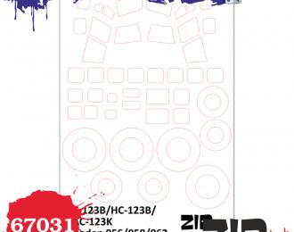 Набор масок C-123B/HC-123B/AC-123K, (Roden)