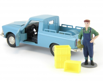 Набор пластиковых ящиков 4 шт. (13x9x6мм), желтый