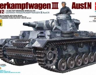 Сборная модель Танк Pz.Kpfw III Ausf N, c металлическим стволом, фототравлением и одной фигурой
