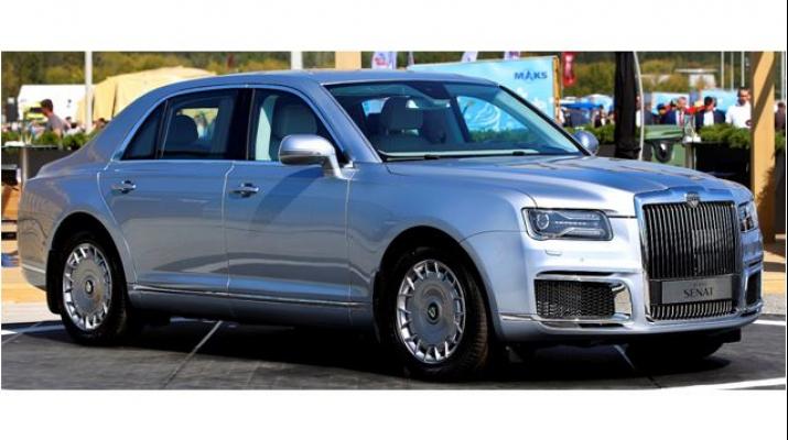 AURUS SENAT седан (не бронированный), silver lining
