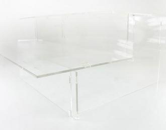 """Подставка под модели """"Лесенка"""", прозрачная с балконом 42см"""