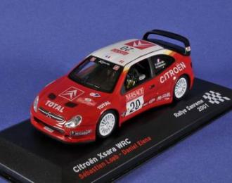 CITROEN Xsara WRC (Sebastien Loeb - Daniel Elena) 2001, red