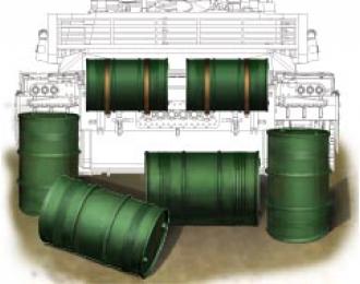 Сборная модель Chinese pla 200L oil drum set