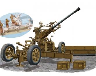 Сборная модель Зенитное орудие OQF Bofors 40mm Anti-Aircraft Gun Mk. I/III (British Army)&Gun Crew Set