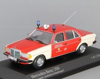 "MERCEDES-BENZ 200 ""Feuerwehr Leinfelden-Echterdinger"", red"