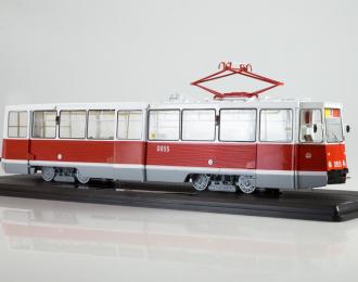 Трамвай КТМ-5М3 (71-605) Ленинград, маршрут 26