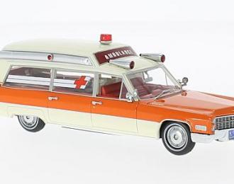 CADILLAC S&S High TopAmbulance (скорая медицинская помощь) 1966 White/Orange