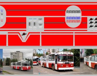 Набор декалей Полосы для троллейбусов красные (100х290)