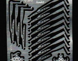 Фототравление 12 дворников для КамАЗ, щетка 420 мм