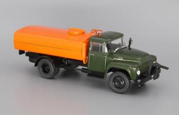 ЗИЛ 431410 (КО-003) поливомоечный, Автомобиль на службе 80, хаки / оранжевый