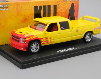 """(Уценка!) CHEVROLET C-2500 Silverado Custom Crew Cab """"Pussy Wagon"""" из к/ф """"Убить Билла"""" (1997), yellow"""