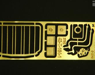 Фототравление решётка радиатора и зеркала для моделей Уральский грузовик-375/377