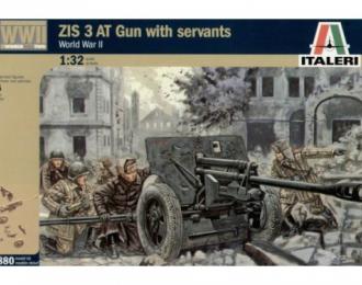 Сборная модель Пушка WWII RUSSIAN ZIS3 AT GUN with crew