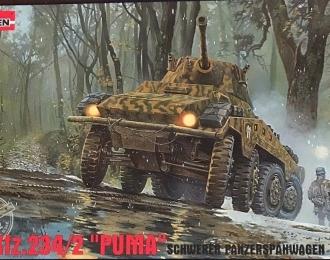 """Сборная модель Немецкий бронеавтомобиль Sd.kfz.234/2 """"PUMA"""""""