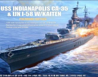 """Сборная модель Корабль U.S.S. CA-35 INDIANAPOLIS """"PREMIUM EDITION"""" :LE"""