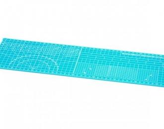 Коврик А3/2 (145x450x2мм) для разметки, резки и дизайнерских работ (не повреждается) голубой