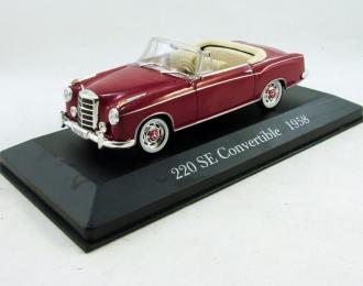 MERCEDES-BENZ 220 SE Convertible (1958), Mercedes-Benz Offizielle Modell-Sammlung 11, красный