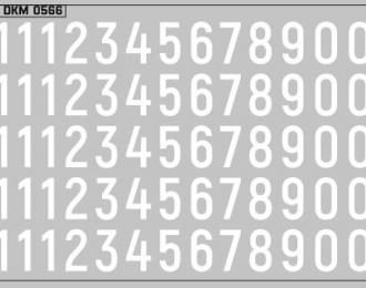 Набор декалей Дублирующие знаки России Цифры белые (100х70)