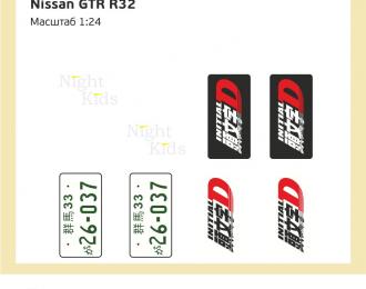 Набор декалей Nissan GTR R32 Initial D