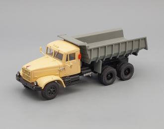 КРАЗ 256Б1 самосвал (1987-1995), бежевый / серый