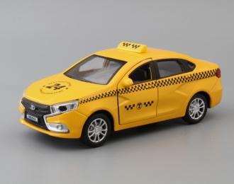 LADA Vesta Такси, yellow