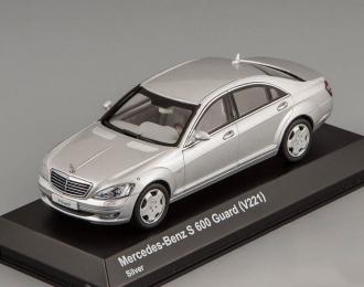 MERCEDES-BENZ S 600 Guard (V221), silver