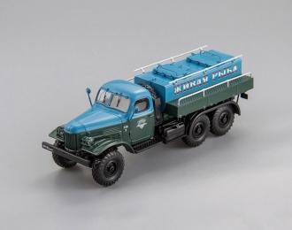 Автоцистерна для перевозки живой рыбы АЦЖР-3.0 (1965), голубой / зеленый