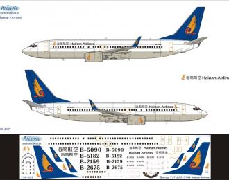 Декаль на самолет боенг 737-800 (нanan аirines)