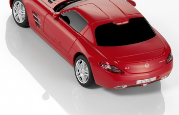 MERCEDES-BENZ SLS AMG Coupe C 197, red
