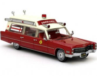 CADILLAC S&S ambulance Fire Rescue (1966), red