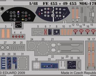Цветное фототравление для МиГ-17Ф