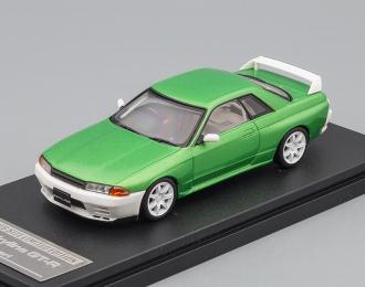 NISSAN Skyline GT-R (R32), green / white