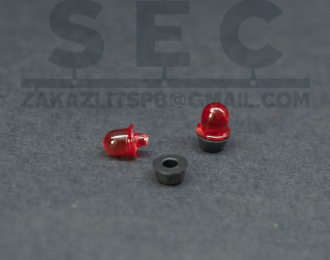 Проблесковый маяк LBS-5 «Elektra» (красный), комплект 2 шт