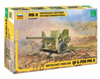 Сборная модель Британская 6-футовая ПТ пушка Мк-II