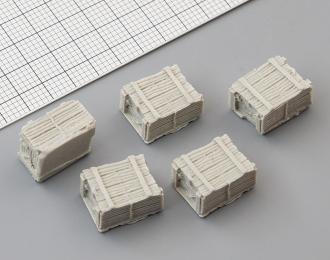 Ящики деревянные малые (500 x 390 x 300 мм), комплект 5 шт.