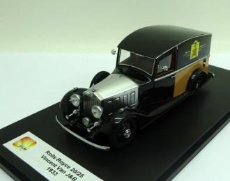 "ROLLS ROYCE 20/25 ""Justerini & Brooks"" Delivery Van (фургон) 1933 Black"