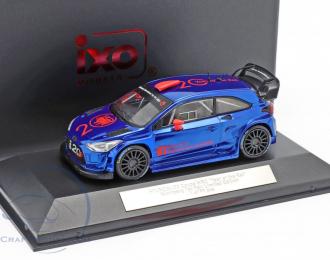 "HYUNDAI i20 Coupe WRC ""Year of the Rat"" Nurnberg Toy Fair 2020, blue"