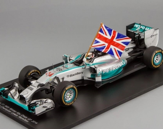 Mercedes-Benz F1 W05 Hybrid #44 Winner Abu Dhabi GP 2014 Lewis Hamilton, World Champion Edition