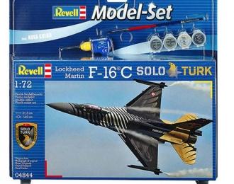 """Сборная модель Турецкий истребитель Lockheed Martin F-16C """"Solo Turk"""" (Подарочный набор)"""