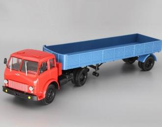МАЗ-504 с полуприцепом МАЗ-9380 (1981), красный / синий
