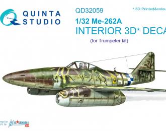 3D Декаль интерьера кабины Me-262A (для модели Trumpeter)