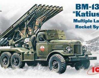 """Сборная модель ZIL-157 Реактивная система залпового огня БМ-13-16 """"Катюша"""""""