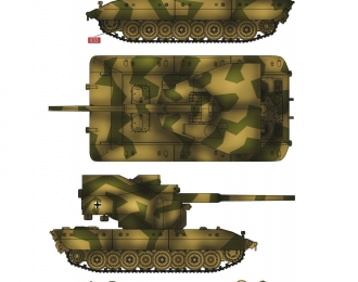 Сборная модель Немецкая ЗСУ на шасси сверхтяжелого танка E-100 со 128мм орудием flak 40